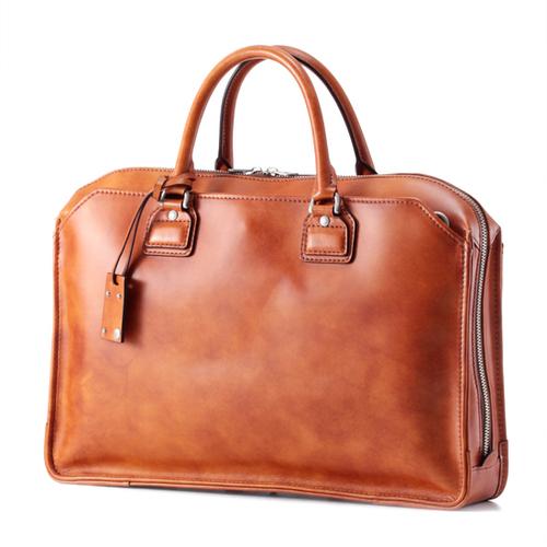 3方ファスナーブリーフ(Waxed Leather)