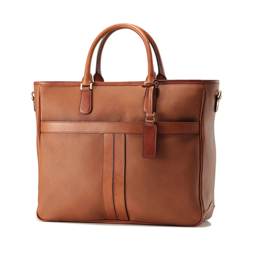 ビジネストート(Prime Grain Leather + Tanned Leather)