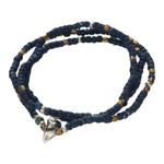 Indigo Dye Coconuts Beads